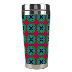 Geometric Patterns Stainless Steel Travel Tumblers by Nexatart