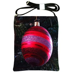Glass Ball Decorated Beautiful Red Shoulder Sling Bags by Nexatart
