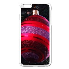 Glass Ball Decorated Beautiful Red Apple Iphone 6 Plus/6s Plus Enamel White Case by Nexatart