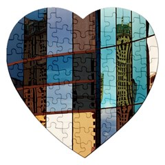Glass Facade Colorful Architecture Jigsaw Puzzle (heart)