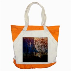 Full Moon Forest Night Darkness Accent Tote Bag by Nexatart