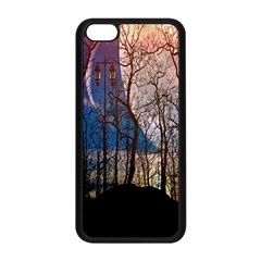 Full Moon Forest Night Darkness Apple Iphone 5c Seamless Case (black) by Nexatart