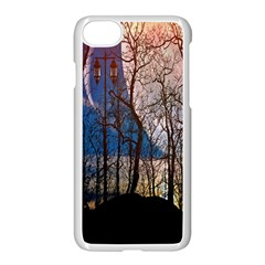 Full Moon Forest Night Darkness Apple Iphone 7 Seamless Case (white) by Nexatart