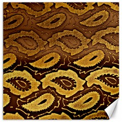 Golden Patterned Paper Canvas 20  X 20   by Nexatart