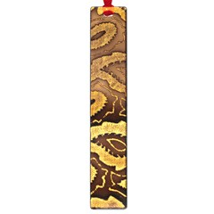 Golden Patterned Paper Large Book Marks by Nexatart