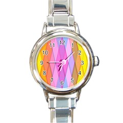 Graphics Colorful Color Wallpaper Round Italian Charm Watch by Nexatart