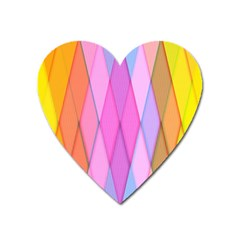 Graphics Colorful Color Wallpaper Heart Magnet by Nexatart