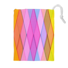 Graphics Colorful Color Wallpaper Drawstring Pouches (extra Large)