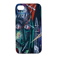 Graffiti Art Urban Design Paint Apple Iphone 4/4s Hardshell Case With Stand