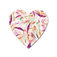 Grass Blades Heart Magnet by Nexatart