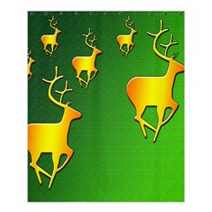 Gold Reindeer Shower Curtain 60  X 72  (medium)