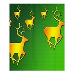 Gold Reindeer Shower Curtain 60  x 72  (Medium)  54.25 x65.71 Curtain