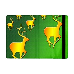 Gold Reindeer Apple Ipad Mini Flip Case