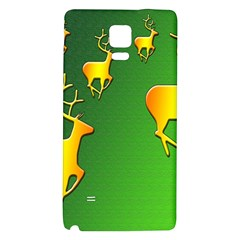 Gold Reindeer Galaxy Note 4 Back Case by Nexatart