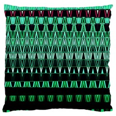 Green Triangle Patterns Large Cushion Case (two Sides)