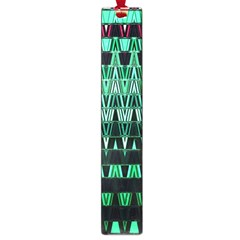 Green Triangle Patterns Large Book Marks