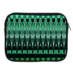 Green Triangle Patterns Apple Ipad 2/3/4 Zipper Cases