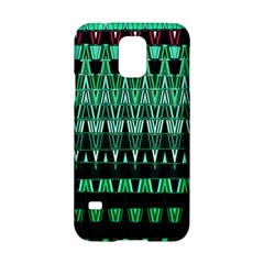 Green Triangle Patterns Samsung Galaxy S5 Hardshell Case  by Nexatart