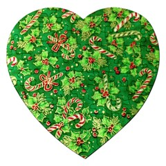 Green Holly Jigsaw Puzzle (heart)