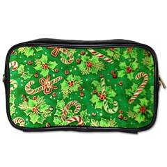 Green Holly Toiletries Bags 2 Side by Nexatart