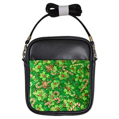 Green Holly Girls Sling Bags by Nexatart