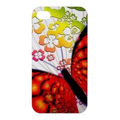 Greeting Card Butterfly Kringel Apple Iphone 4/4s Hardshell Case by Nexatart