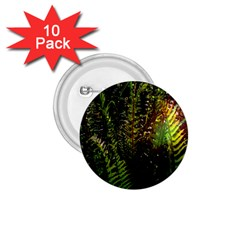 Green Leaves Psychedelic Paint 1 75  Buttons (10 Pack)