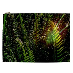 Green Leaves Psychedelic Paint Cosmetic Bag (xxl)