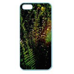 Green Leaves Psychedelic Paint Apple Seamless Iphone 5 Case (color) by Nexatart