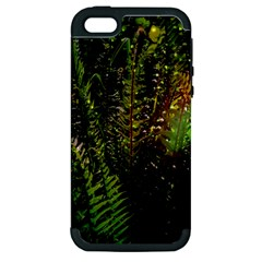 Green Leaves Psychedelic Paint Apple Iphone 5 Hardshell Case (pc+silicone) by Nexatart