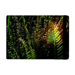 Green Leaves Psychedelic Paint Apple Ipad Mini Flip Case