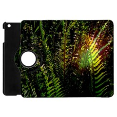 Green Leaves Psychedelic Paint Apple Ipad Mini Flip 360 Case