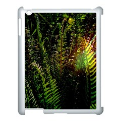 Green Leaves Psychedelic Paint Apple Ipad 3/4 Case (white) by Nexatart