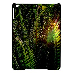 Green Leaves Psychedelic Paint Ipad Air Hardshell Cases by Nexatart