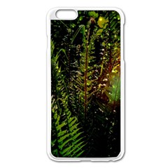 Green Leaves Psychedelic Paint Apple Iphone 6 Plus/6s Plus Enamel White Case by Nexatart