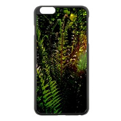 Green Leaves Psychedelic Paint Apple Iphone 6 Plus/6s Plus Black Enamel Case by Nexatart