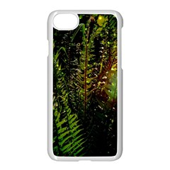 Green Leaves Psychedelic Paint Apple Iphone 7 Seamless Case (white) by Nexatart