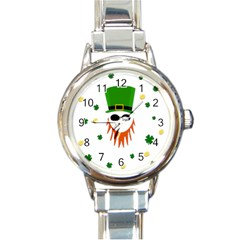 St  Patrick s Day Round Italian Charm Watch by Valentinaart