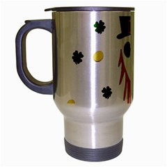 St  Patrick s Day Travel Mug (silver Gray) by Valentinaart