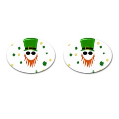 St  Patrick s Day Cufflinks (oval) by Valentinaart