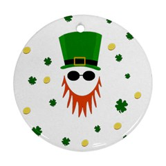 St  Patrick s Day Round Ornament (two Sides) by Valentinaart