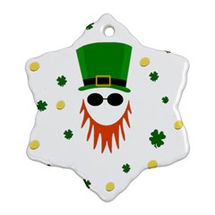 St  Patrick s Day Snowflake Ornament (two Sides)
