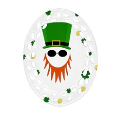 St  Patrick s Day Ornament (oval Filigree) by Valentinaart