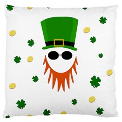 St  Patrick s Day Large Cushion Case (one Side) by Valentinaart
