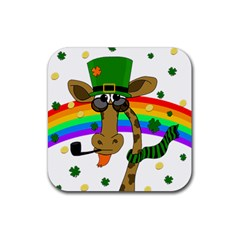 Irish Giraffe Rubber Coaster (square)  by Valentinaart
