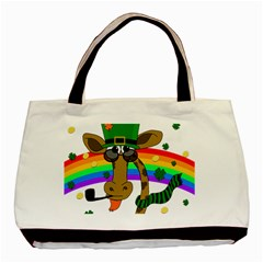 Irish Giraffe Basic Tote Bag (two Sides) by Valentinaart