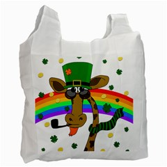 Irish Giraffe Recycle Bag (two Side)  by Valentinaart