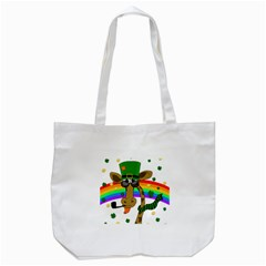 Irish Giraffe Tote Bag (white) by Valentinaart