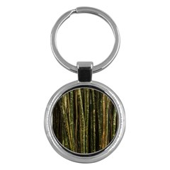 Green And Brown Bamboo Trees Key Chains (round)