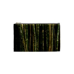 Green And Brown Bamboo Trees Cosmetic Bag (small)  by Nexatart